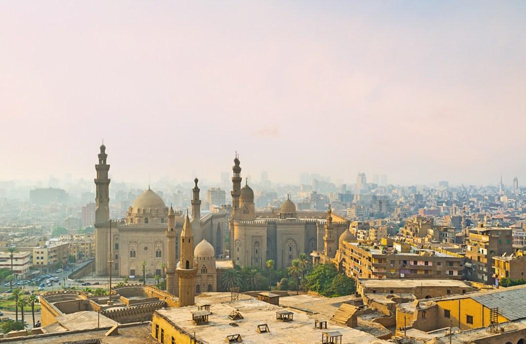 Lanskap kota Kairo dari ketinggian