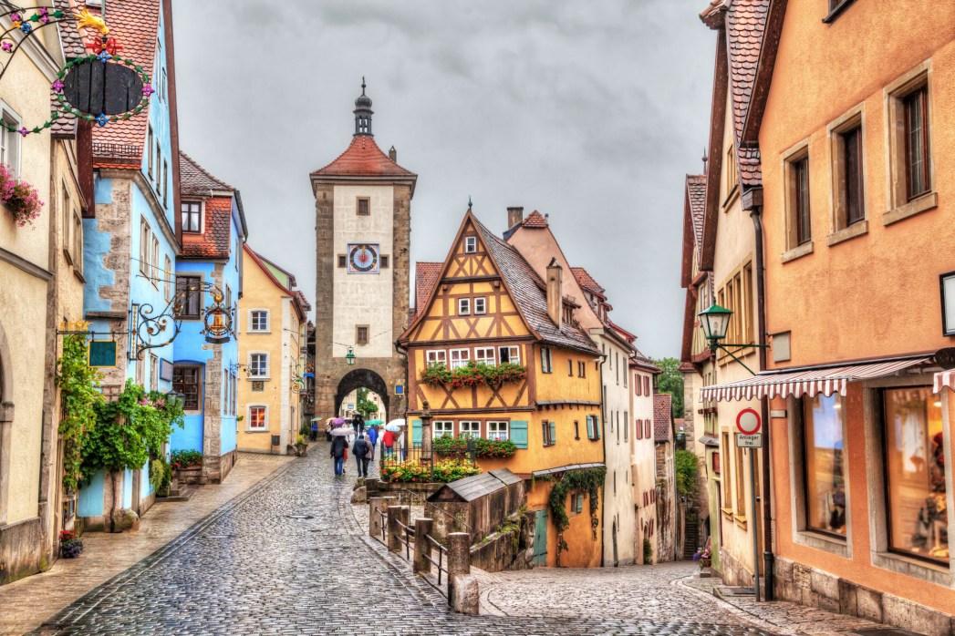 Pemandangan Rothenburg, Jerman yang sangat ikonik