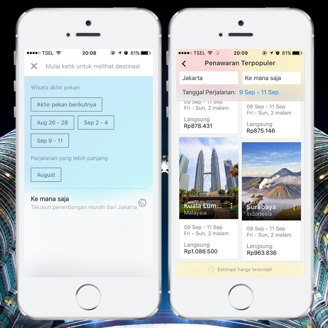 Fitur di aplikasi Skyscanner