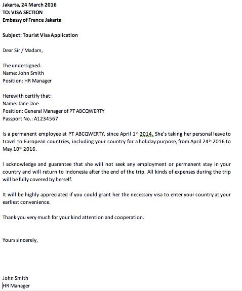 3 Jenis Surat Sponsor Untuk Aplikasi Visa Dan Contohnya
